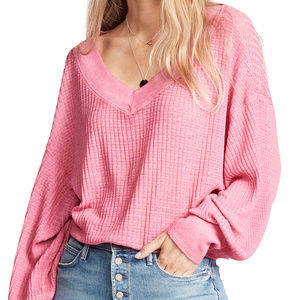 NWT Free People South Side Thermal sweater top